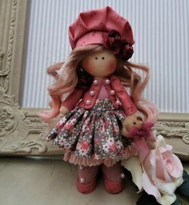 Rag doll handmade in the UK Tilda doll Ooak doll Cloth doll RUBY 6 inch tall