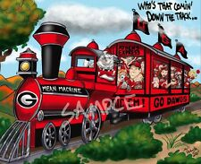 "University of Georgia Bulldogs UGA Football ""Mean Machine"" Dave Helwig Art"