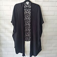 Ava & Viv Plus Size 4X Cardigan Top Black Open Front Topper Lace Casual Career