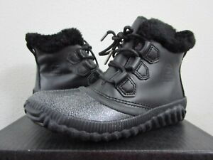 NIB Womens Sorel Out N About Plus Lux Waterproof Shoes Fashion Boots - Black