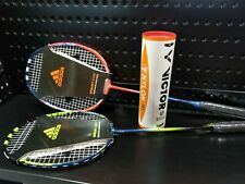 Adidas Badminton Racket (Pre-Strung) 2 Player Set with Bag and Nylon Shuttles