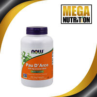 NOW Foods Pau D'arco 500mg 250 Veg Capsules | Inner Bark Herbal Supplement