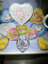 lot of 11 brighton heart empty tins - 1 lg - 4 med & 6 sm. great for anything -H