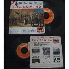 FATS DOMINO - La La La + 3 Rare French EP R&B 1962 With Languette
