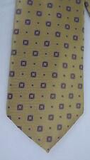 Brooks Brothers 100% Silk Neck Tie - Woven Yellow Geometric - ITALY