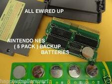 5 PACK NEW Memory Backup Save Battery for the Nintendo NES System Games Card