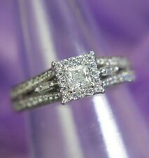 Cubic Zirconia 925 Sterling Silver engagement estate comfort band Ring size 6.75