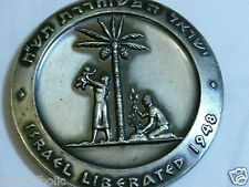 JUDEA CAPTA ISRAEL LIBERATED MEDAL 1962 BRONZE 59MM 116gr