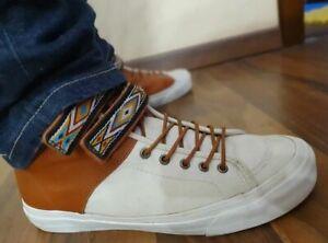 Luxury Leather Sneakers VANS by Taka Hayashi TH Priz Hi LX Unisex Shoes US9 27cm