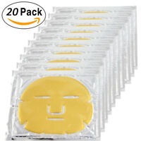 20pcs Gold Bio Collagen Facial Face Mask 24K Revitalising Firming anti-aging