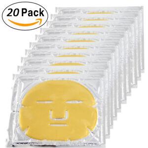 20pcs Gold Bio Collagen Facial Face Mask 24K Revitalising Firming anti-aging