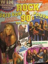 Rock of the 90's February 1991 Magazine-Bon Jovi/Skid Row/Poison/Slaughter/Faith