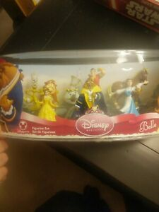 NEW Disney Princess Beauty Belle and The Beast 8 Pieces Figurine Set  RARE