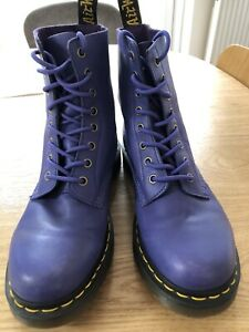 Dr Martens Purple Pascal 8 Hole Boots - Size 7 UK