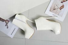 "Men's Stiletto Ankle Boots Glamorous Boots Black High Heels 6.25"" Women Shoes"