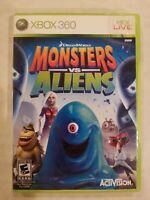 Monsters vs Aliens - Xbox 360 COMPLETE TESTED FREE S/H