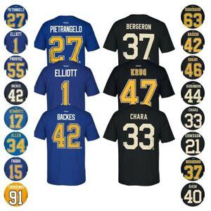 Boston Bruins & St. Louis Blues NHL Reebok Player N&N Premier Jersey T-Shirt