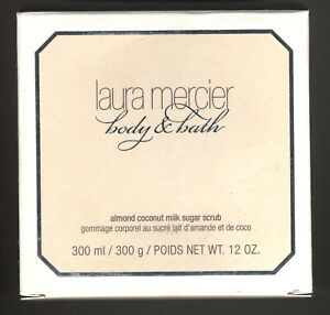 Laura Mercier Body & Bath Almond Coconut Milk Sugar Scrub 12oz./300ml New in Box