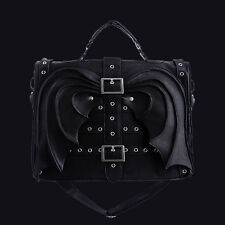 RESTYLE BAT WINGS GOTHIC SATCHEL BAG/BRIEFCASE. VICTORIAN. HORROR. HALLOWEEN.