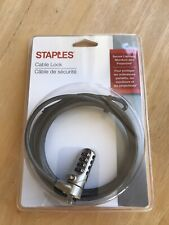 Brand New Staples Cable Lock For Laptops,Monitors,Computer s~A College Must Have