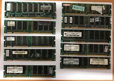 10) BANCHI RAM 128MB e 512MB  USATI  FUNZIONANTI ( marche varie)