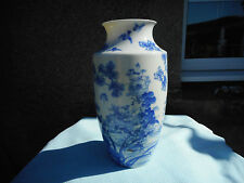 Chinese  Blue And White Vase With  Birds In Flora