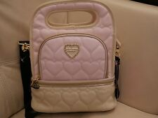 NEW Betsey Johnson Top handle Lunch Tote Insulated Bag quilted leather blush