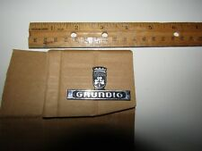 Rare Vintage Grundig Logo From Record Player Radio Cabinet - Good Condition