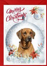 "Rhodesian Ridgeback Dog A6 (4""x 6"") Christmas Card (Blank inside) by Starprint"