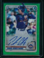 PETE CROW-ARMSTRONG AUTO 2020 Bowman Chrome Draft Autograph GREEN REFRACTOR #/99