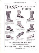 1930 Sporting Goods Journal Ad~ Bridgeport Bass ~ Shoes & Boots ~ Wilton ME