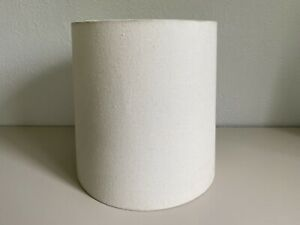 West Elm Lamp Shade Mid Century Modern Pre-Owned Off White, Clean, Height-11.5in