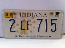 LICENSE PLATE INDIANA  CROSSROADS OF AMERICA
