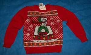 Size (4) Boys  Ugly Christmas Sweater Jumping Beans Peanuts Snoopy