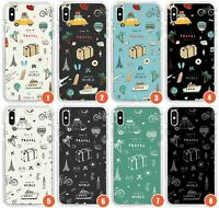 Cute Travel Pattern Designs Impact Phone Case for | Vacation Illustration Adorab