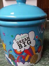 """Girl Scout """"DREAM BIG COOKIE JAR"""" NIB 2017 Thin Mints Samoa Trefoil"""