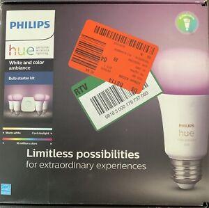 Philips Hue A19 LED Smart Bulb Starter Kit - 548545