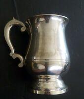Vintage Mug Tankard Stein Silver Plate EPNS A1