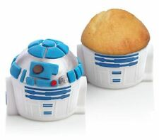 Star Wars R2D2 Droid Robot Cupcake Silicone Mold Tray 2 set lot Cake Muffin Pan