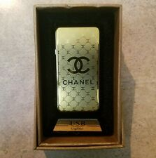 USB Rechargeable Electric slide Cigarette Lighter Flameless windproof/chanel