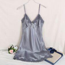 Ladies Sexy CHEMISES Night Dress Sleeveless Nighties V-neck - SIZE 12
