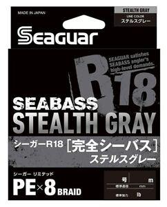 KUREHA Seaguar R18 Full Sea Bass Stealth Gray 150m #0.8  Fishing LINE
