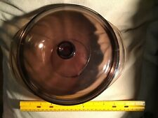 pyrex corning glass cookware-amber colored ny/usa- oven and microwave safe