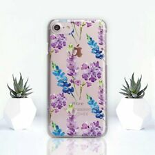 Purple Flowers iPhone XR Case Floral iPhone X 11 6s Cover Clear iPhone SE 7 Plus