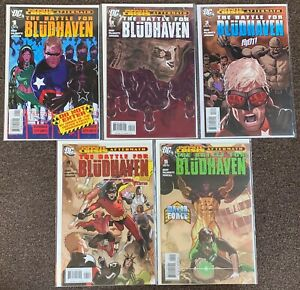 The Battle for Bludhaven #1,2,3,4,5 Infinity Crisis Aftermath DC Nightwing Nm