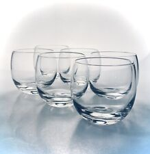 Roly Poly Glasses Stemless Wine Or Whiskey 8 OZ Drinkware Barware EUC Set Of (6)