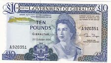More details for p22b gibraltar 1986 ten pounds banknote in crisp mint condition