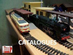 131 catalogues, plans réseaux, brochure, notices jouef sur CD, trains ho, kafr78