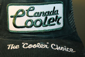 Canada Cooler The Cooler Choice Alcohol Beer Hat Cap Snapback Corduroy Lupes Cap