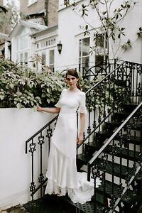 Silk Wedding dress size 10 showroom sample